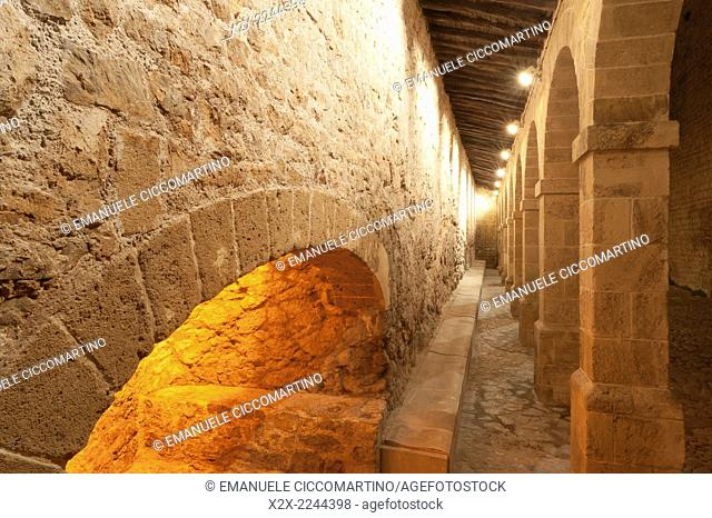 Arches in Patio de Armas, City wall, Rampart, Dalt Vila, historic old town, Ibiza, Balearic Islands, Spain, Mediterranean, Europe
