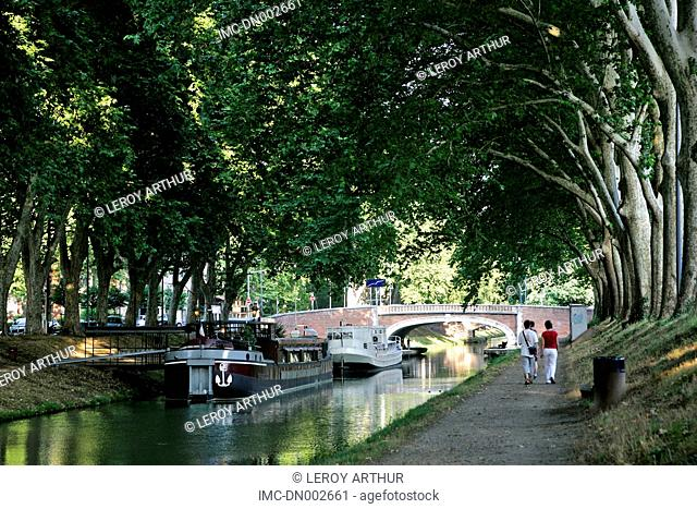 France, Languedoc, Toulouse, canal of Brienne