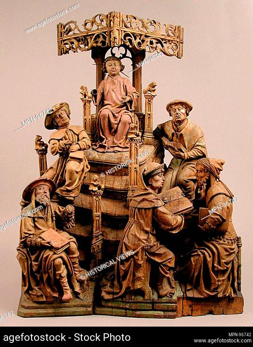 Christ among the Doctors. Date: early 16th century; Geography: Made in Lower Rhine; Culture: German; Medium: Oak, polychromy