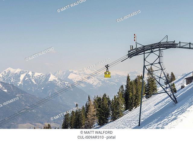 Cable car on Zwolferhorn, St Gilgen, Austria