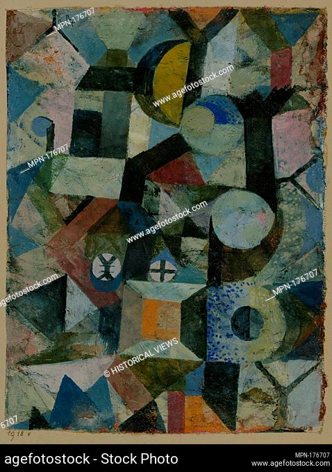 Composition with the Yellow Half-Moon and the Y. Artist: Paul Klee (German (born Switzerland), Münchenbuchsee 1879-1940 Muralto-Locarno); Date: 1918; Medium:...