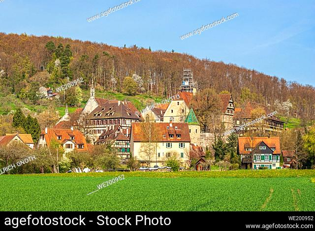 Impressions of the village and the palace and monastery complex of Bebenhausen near Tübingen, Baden-Württemberg, Germany