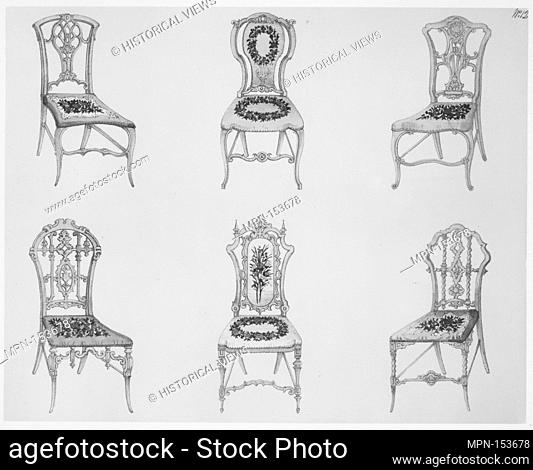 A Useful and Modern Work on Chairs, in Twelve Plates, Containing Forty-Two Designs. Designer: Henry Wood (British, active 1835-45); Publisher: Ackermann & Co