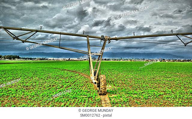 Irrigation systems near Cordoba City, . Cordoba Province,. Andalucua, Spain