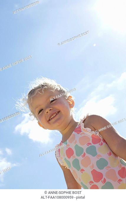 Little girl outdoors, portrait