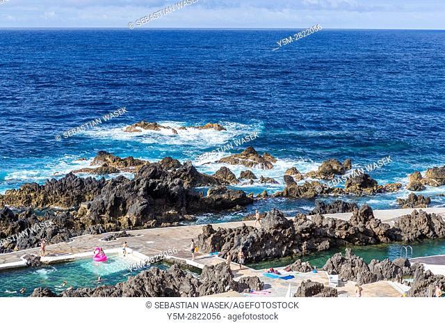 Natural swimming pools at Porto Moniz, North Coast of Madeira, Portugal