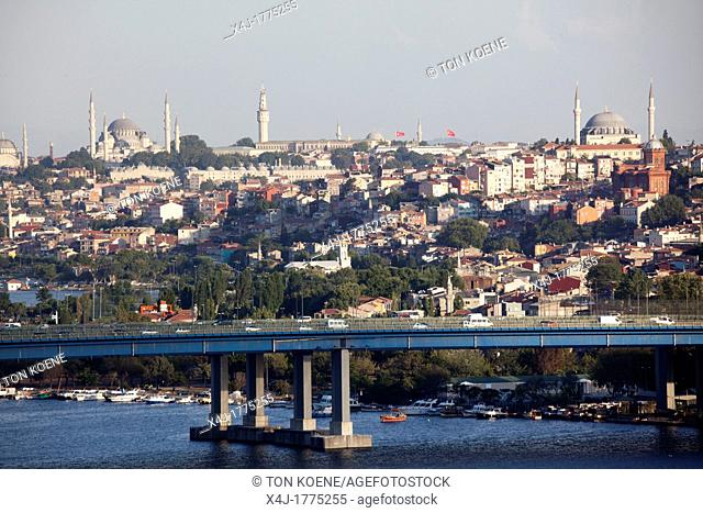 view from the 'Pierre Loti' viewpoint, looking at the golden horn, istanbul