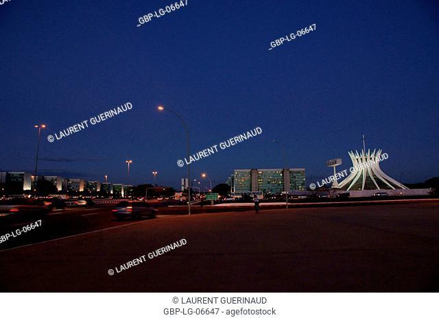 Square National Museum, city, Metropolitan Cathedral Ours Mrs. Aparecida, Esplanade Ministries, city, Distrito Federal, Brasília, Brazil