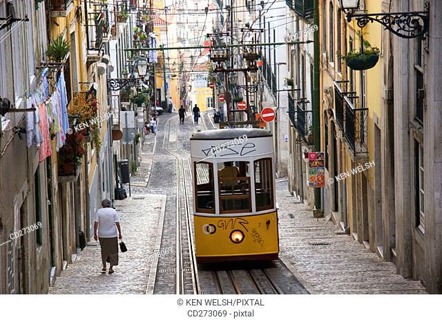 Tram, Lisbon. Portugal