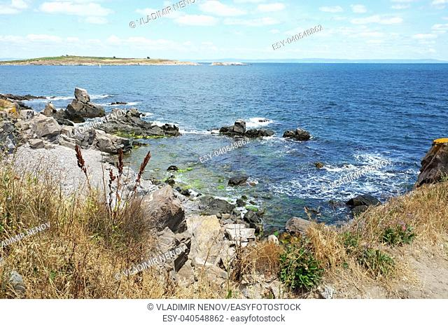 Sea view from the town of Sozopol, Bulgaria