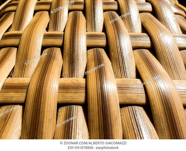 Photo picture Closed up wooden wicker texture background