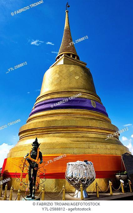 Golden stupa of Wat Saket, Bangkok, Thailand