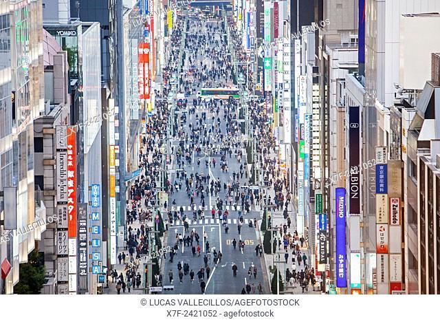 Chuo street, Ginza, Tokyo, Japan