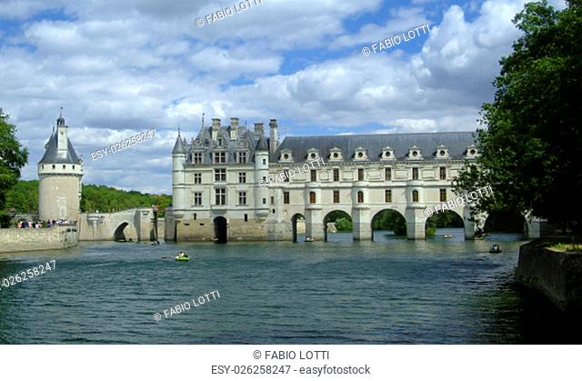 the chateau of Chenonceau on the river Cher, in the Loire Valley