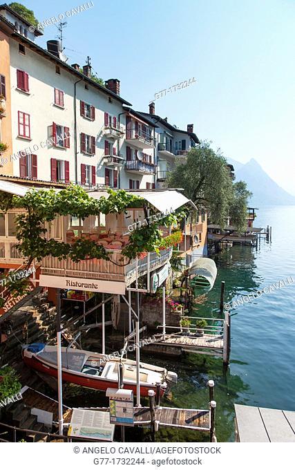 Switzerland  Canton Tessin  Lake of Lugano  Gandria