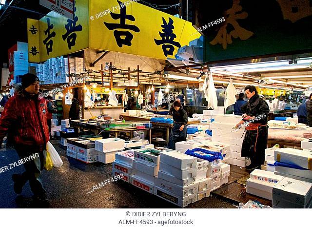 Japan, Honshu island, Kanto, Tokyo, Tsukiji market