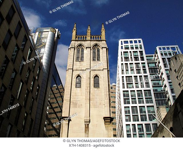 Tower of St Alban, Wood Street, London, England