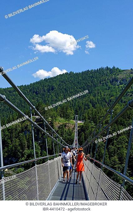 Suspension Bridge, Highline179, Ehrenberg Castle ruins, Reutte, Tyrol, Austria