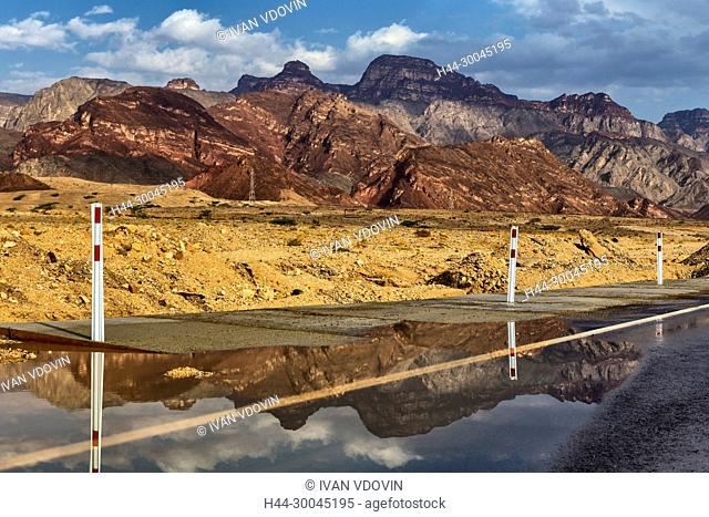 Road from Nuweiba to Taba, Sinai peninsula, Egypt