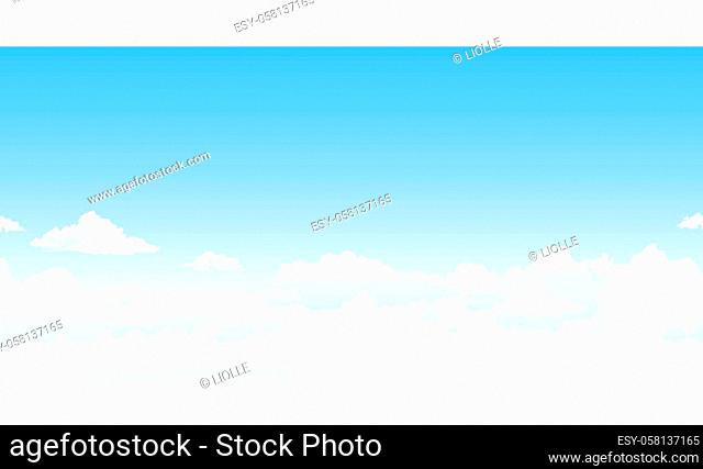 Heavenly background. White clouds in the blue sky. Abstract background with clouds on the blue sky