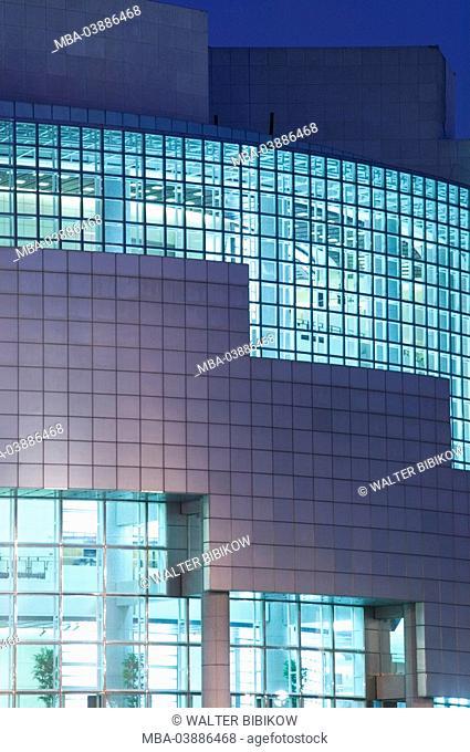 France, Paris, Place de la Bastille, opuses de la Bastille detail evening no property release city, capital, buildings, opera-house, Bastille-Oper, architecture