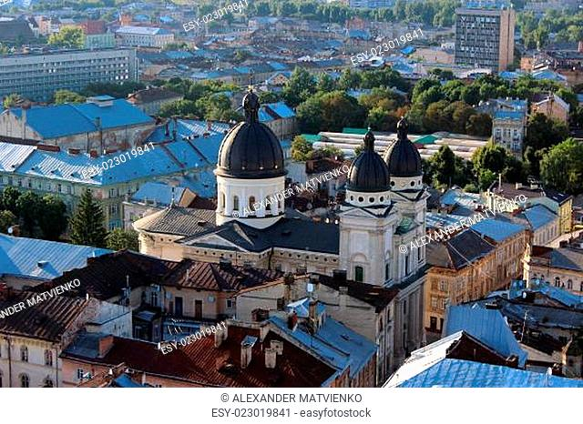 view to the house-tops of Lvov city