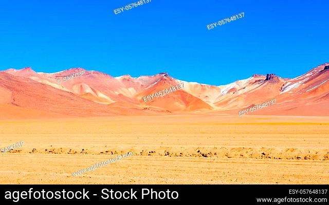 Salvador Dali Desert, also known as Dali Valley is an extremely barren valley of southwestern Bolivia