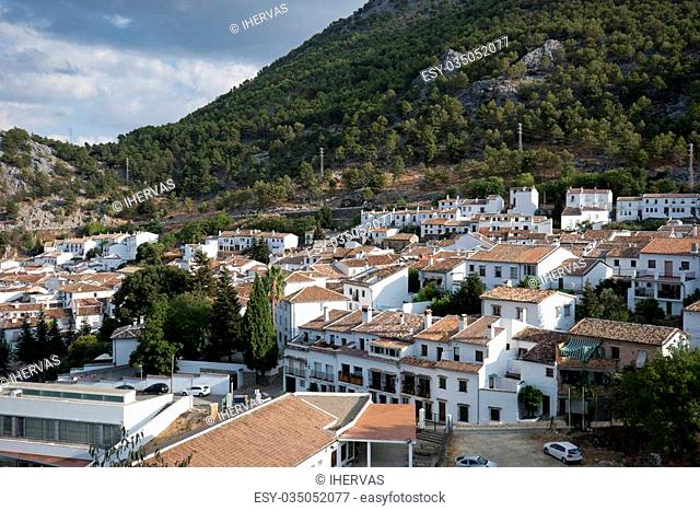 Views of Grazalema, Cadiz. This village is part of the pueblos blancos (white towns) in southern Spain Andalusia region, and reminds the Arab past