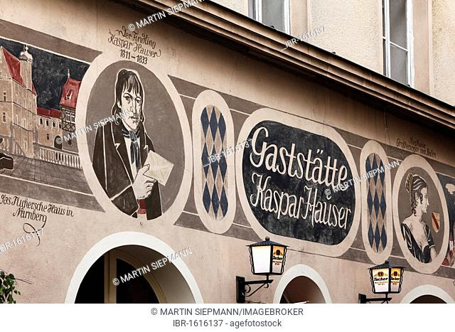 Restaurant Kaspar Hauser, Ansbach, Middle Franconia, Franconia, Bavaria, Germany, Europe