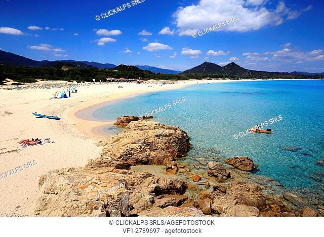 Costa Rei beach, Sardinia , Italy