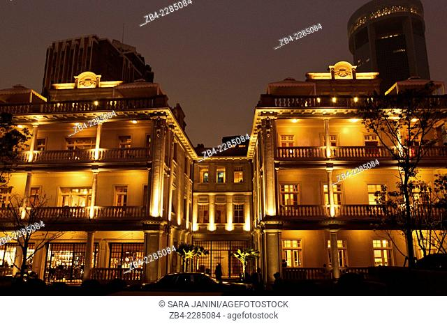 Vacheron Constantin Mansion at night, Luwan District, Shanghai, China, Asia