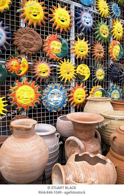 Pottery souvenirs, Paphos, Cyprus, Europe