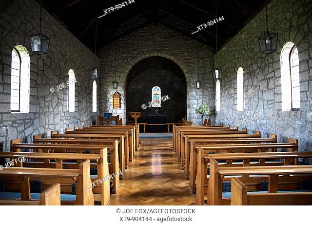 interior of saul church in downpatrick built in 1932 to commemorate the site of saint patricks first church in ireland, county down