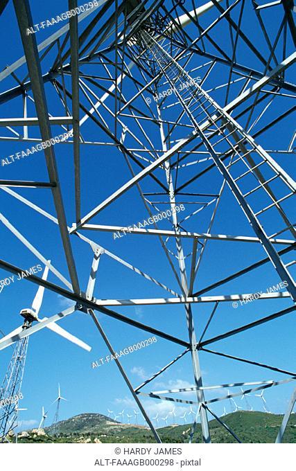 Field of windturbines