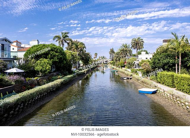 Canal district of Venice, Los Angeles, California, USA