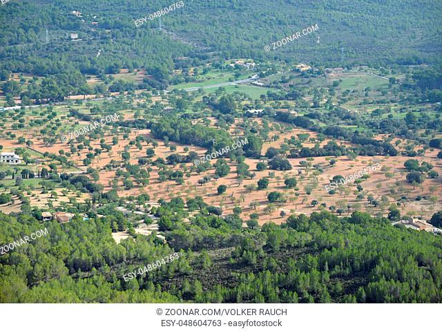 Landschaft, Mallorca, balearen, spanien, land, tiefblick, natur, insel, inland, santuari de san salvador