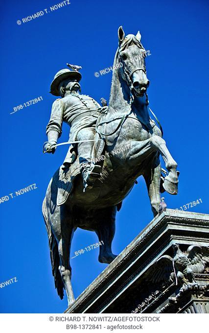 United States, Washington, District of Columbia, Logan Circle, statute of General Logan  John A, Logan 1826-1886, American politician and soldier