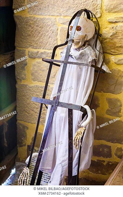 Torture instrument. Witchery Week 2016. Bargota, Navarre, Spain, Europe