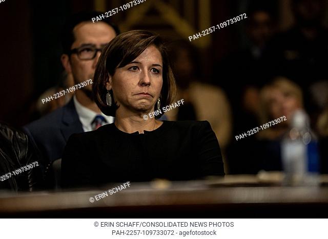 SEPTEMBER 27, 2018 - WASHINGTON, DC: Ashley Kavanaugh, Brett Kavanaugh's wife. Judge Brett M. Kavanaugh testified in front of the Senate Judiciary committee...