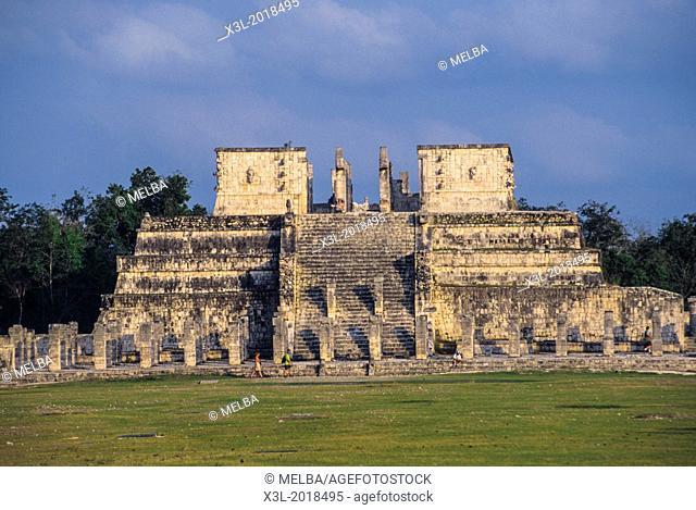 Templo de los Guerreros Temple of the Warriors in Chichen Itza, Yucatan Peninsula, Mexco