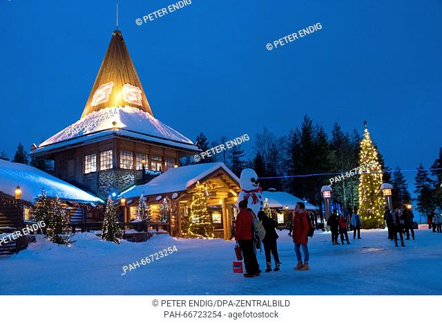 The Christmas village at the polar circle in Rovaniemi, Lapland, 08 February 2016. Santa Clause's workplace village is a famous tourist spot on the northern...