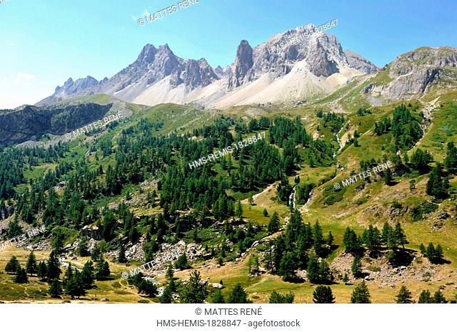 France, Hautes Alpes, Brianconnais area, the upper valley of La Claree