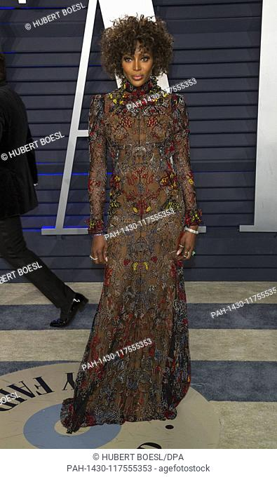 Naomi Campbell attends the Vanity Fair Oscar Party at Wallis Annenberg Center for the Performing Arts in Beverly Hills, Los Angeles, USA, on 24 February 2019