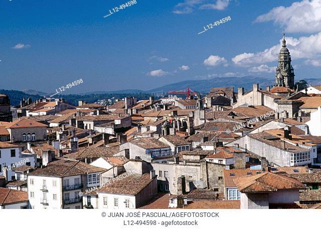 Old town, Santiago de Compostela. La Coruña province, Galicia, Spain