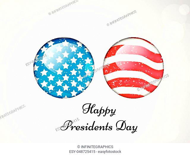 Illustration of U. S. A Flag for Presidents day