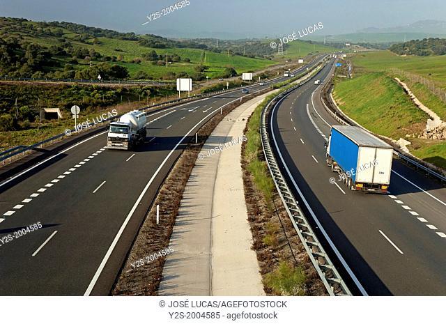 Motorway A-381 Jerez-Los Barrios, Cadiz-province, Spain