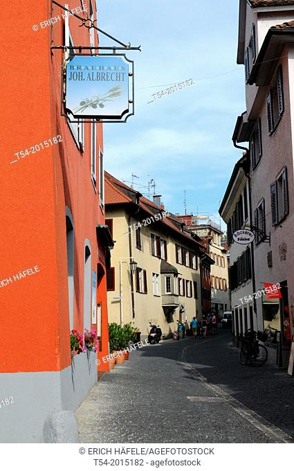Alley in the historic city of Constance
