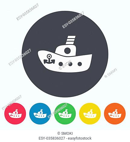 Ship toy icon. Flat vector related icon for web and mobile applications. It can be used as - logo, pictogram, icon, infographic element