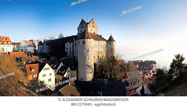 Panoramic view of Meersburg castle, Meersburg, Baden-Wuerttemberg, Germany, Europe