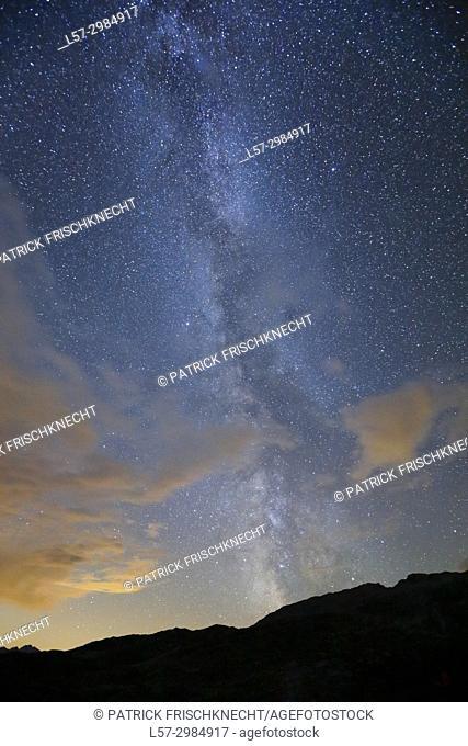 Swiss Alps and Milky way, Switzerland